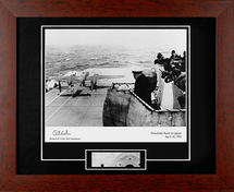 Doolittle Raid on Japan (with B-25 Metal Relic) Signed by Dick Cole, 2nd Lieutenant