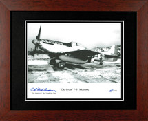 """P-51 Mustang """"Old Crow"""" framed photograph signed by Bud Anderson"""