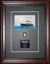 Titanic Postcard signed by last survivor Millvina Dean