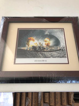 USS Iowa BB-61 framed photograph