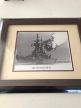 USS New Jersey BB-62 framed photograph