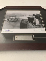 "Doolittle Raid framed photograph - matted to include B25 metal ""skin"""