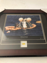 Apollo-Soyuz Test Project framed photograph - matted to include flown kapton relic