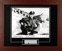 """Framed P-51 Mustang """"Old Crow"""" Print Signed by Bud Anderson"""