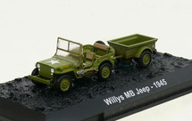Willys MB Jeep with Bantam T3 Trailer 2nd Battalion