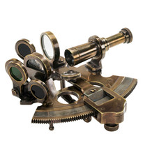 Bronze Pocket Sextant Authentic Models