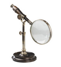 Magnifying Glass With Stand, Bronzed Authentic Models