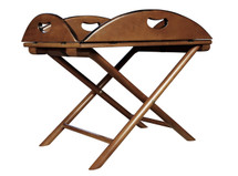 British Butler Table, French Finish Authentic Models