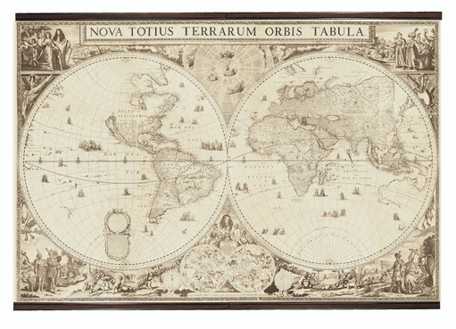 Authentic World Map.World Map 1690 Authentic Models Authentic Models Am Mc810
