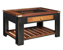 Collector's End Table, Black Authentic Models