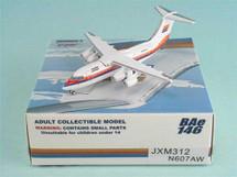 """United Express BAe 146-200 (Red/Blue/Orange) ~ N607AW """"White Engine"""""""