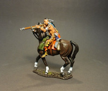 Mounted Woodland Indian, Firing Musket A (2pcs) - Limited Edition