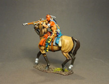Mounted Woodland Indian, Firing Musket B (2pcs) - Limited Edition