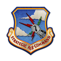 Strategic Air Command Custom Metal Shape Pasttime Signs