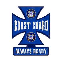 Coast Guard Iron Cross Metal Sign Pasttime Signs