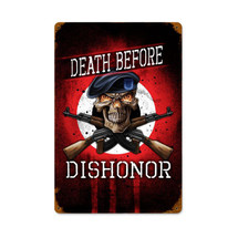 Death Before Dishonor Vintage Metal Sign Pasttime Signs