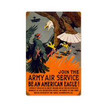 Eagle Army Air Vintage Metal Sign Pasttime Signs