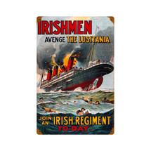 Lusitania Vintage Metal Sign Pasttime Signs
