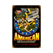 American Bombshell Vintage Metal Sign Pasttime Signs
