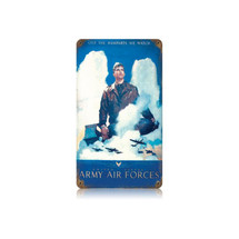 Army Air Vintage Metal Sign Pasttime Signs