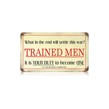 Trained Men Vintage Metal Sign Pasttime Signs