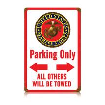 Marine Parking White Vintage Metal Sign Pasttime Signs