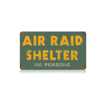 Air Raid Shelter Vintage Metal Sign Pasttime Signs