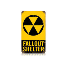 Fallout Shelter Vintage Metal Sign Pasttime Signs