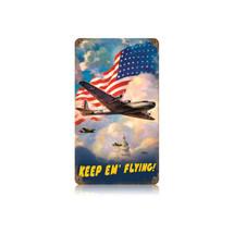 B15 US Flag Vintage Metal Sign Pasttime Signs