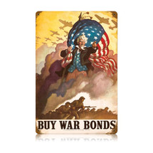 Uncle Sames Buy War Bonds Vintage Metal Sign Pasttime Signs