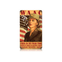 WAAC Woman Vintage Metal Sign Pasttime Signs