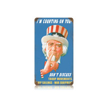 Uncle Sam Vintage Metal Sign Pasttime Signs PT-V358