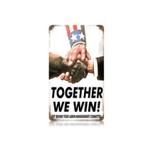 Together We Win Vintage Metal Sign Pasttime Signs