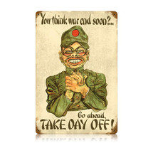 Take Day Off Vintage Metal Sign Pasttime Signs PT-V419