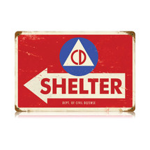 Civil Defense Vintage Metal Sign Pasttime Signs