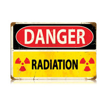 Danger Radiation Vintage Metal Sign Pasttime Signs