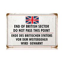 British Sector Vintage Metal Sign Pasttime Signs