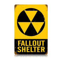 Fallout Shelter Vintage Metal Sign Pasttime Signs PT-V501
