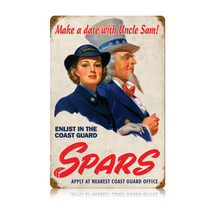 Spars Coast Guard Vintage Metal Sign Pasttime Signs
