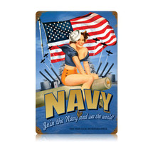 Navy Pin Up Vintage Metal Sign Pasttime Signs