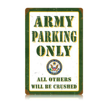 Army Parking Vintage Metal Sign Pasttime Signs