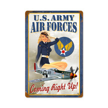 Air Forces Pin Up Vintage Metal Sign Pasttime Signs