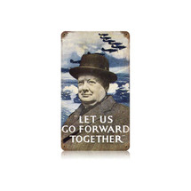 Go Forward Together Vintage Metal Sign Pasttime Signs