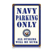 Navy Parking Vintage Metal Sign Pasttime Signs
