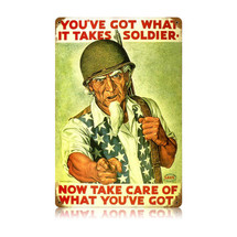 Uncle Sam Soldier Vintage Metal Sign Pasttime Signs