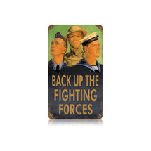 Back up Forces Vintage Metal Sign Pasttime Signs
