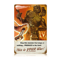Your War Vintage Metal Sign Pasttime Signs