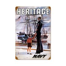 Navy Heritage Vintage Metal Sign Pasttime Signs