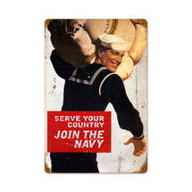 Serve Your Country Vintage Metal Sign Pasttime Signs