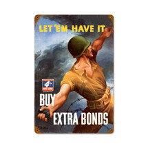 War Bond Grenade Vintage Metal Sign Pasttime Signs